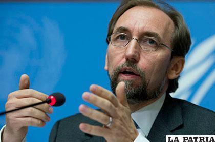 Zeid Ra´ad Al Hussein, alto comisionado de Naciones Unidas para los Derechos Humanos