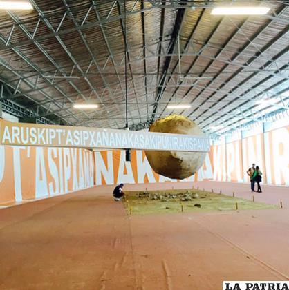 La obra estuvo expuesta en el campo ferial Chuquiago Marka /VIVA