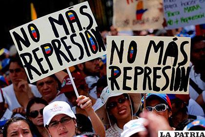 Diferentes protestas que se realizaron para que pare la crisis en Venezuela