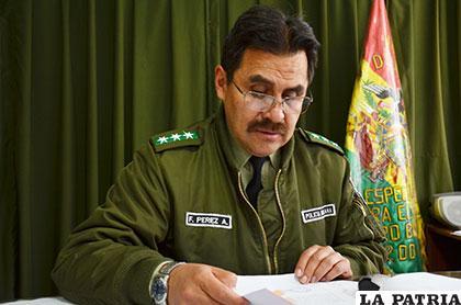 El director de la Felcc, coronel Fernando Pérez confirmó lo ocurrido