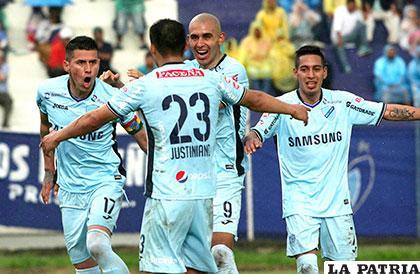 Jugadores del cuadro de Bolívar que marcha primero en el Clausura /APG