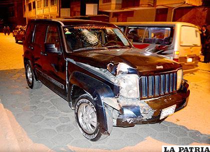 Este vehículo era conducido por una persona en estado de ebriedad