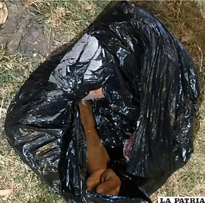 El macabro hallazgo se hizo en un basurero