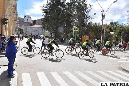 Algunos oficiales de la Policía en bicicletas /Archivo