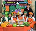 Estudiantes de la unidad educativa acreditada conocen los beneficios de las frutas y verduras /Archivo