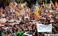 Manifestación en favor de líderes que promovieron la independencia en Cataluña