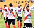 Celebran los jugadores de Nacional Potosí, la victoria lograda ante Wilstermann /APG