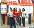 LA PATRIA: un stand de  primera con azafatas de lujo