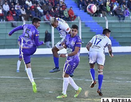 En el partido de ida en Potosí, San José venció por 5-0 el 02/09/2018 /APG
