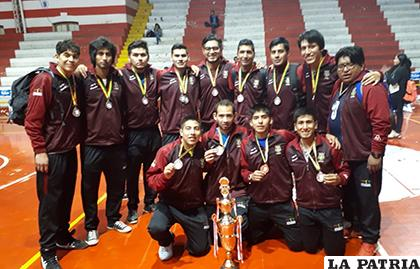 La selección orureña se consagró subcampeón nacional /cortesía Alexis Vidal