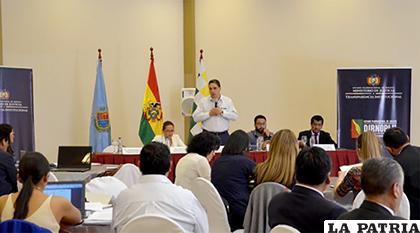 Ministro Héctor Arce en el evento de presentación del plan de selección de notarios/ANF