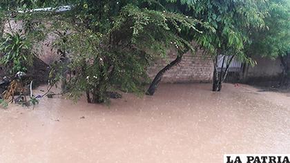 Casas inundadas y varias familias afectadas/FACEBOOK