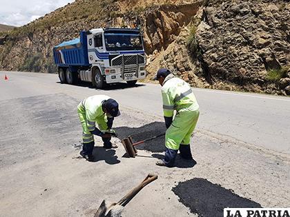 Mejoran ruta en vía Oruro-Cochabamba  ABC