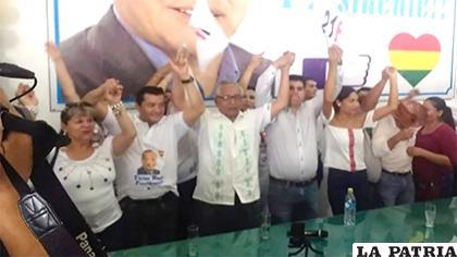 Víctor Hugo Cárdenas presentó su candidatura a la Presidencia, por Unidad Cívica Solidaridad (UCS)/ERBOL.COM.BO