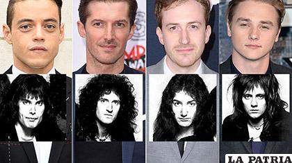 Los intérpretes de los músicos en la película Bohemian Rhapsody/  LAVERDADNOTICIAS.COM