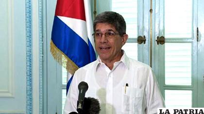 Director para Estados Unidos de la Cancillería cubana, Carlos Fernández de Cossío /LOSTIEMPOS.COM