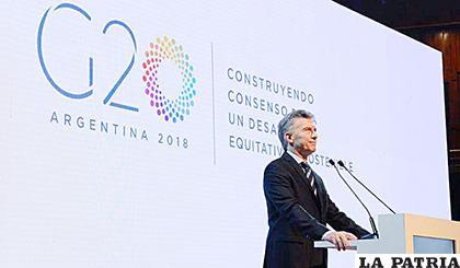 El presidente anfitrión Mauricio Macri /ANALÍTICA