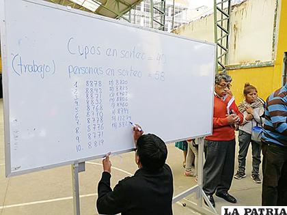 Hoy finaliza el sorteo en unidades educativas de alta demanda en la ciudad de Oruro /DDEO