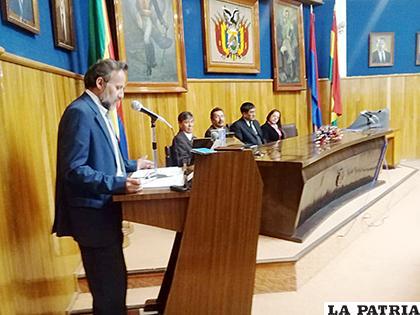Acto de clausura del curso internacional sobre pasivos ambientales mineros /LA PATRIA