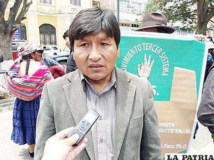 Presidente departamental del MTS, William Magne Flores /LA PATRIA