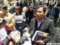 Milton Ocaña, representante de los exfuncionarios afectados /La Patria