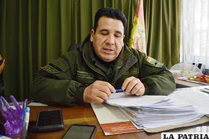 El coronel Manuel Vergara informó acerca de lo sucedido /LA PATRIA