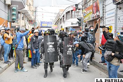 La intervención de la UTOP y Delta de la Policía evitó mayores enfrentamientos /LA PATRIA