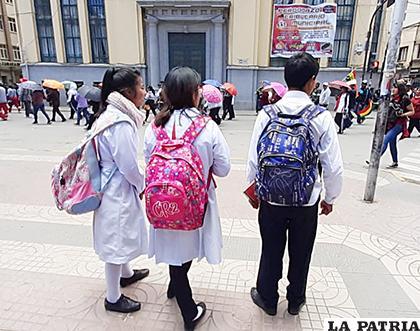 Colegios del centro de la ciudad paralizaron clases durante las protestas /LA PATRIA /ARCHIVO