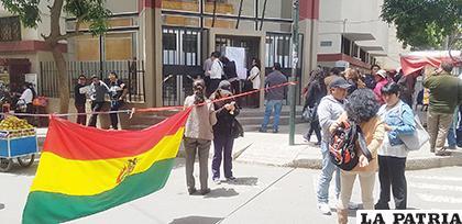 Instalaciones del �?rgano Judicial fueron cerradas /LA PATRIA