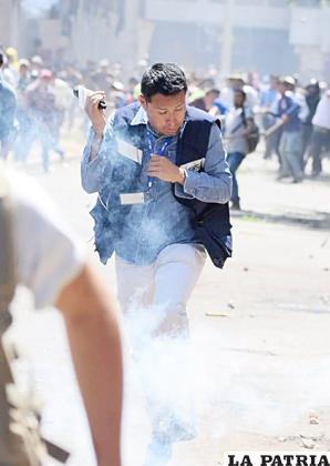 Un trabajador de la prensa en medio del conflicto /RR.SS.