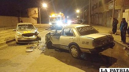 Los vehículos quedaron seriamente afectados /LA PATRIA