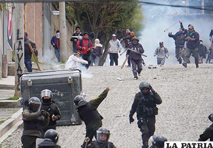 La Paz vivió una ola de delincuencia ayer /APG