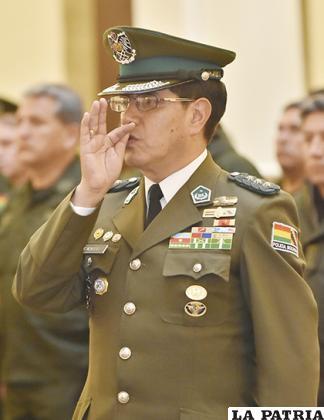 El coronel Rodolfo Antonio Montero Torricos juró ayer como Comandante General de la Policía / APG