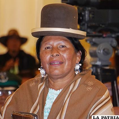 Martha Yujra Apaza, Ministra de Culturas