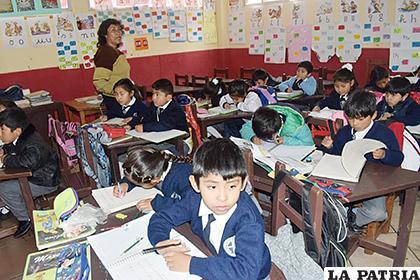 Algunas unidades educativas pasaron clases ya desde la mañana /LA PATRIA