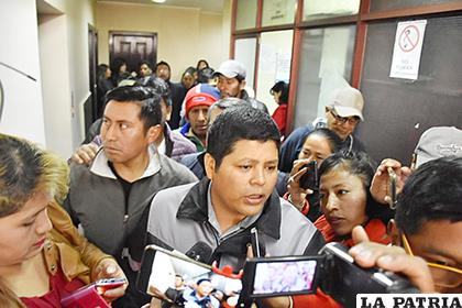 Líder de la Asociación Departamental de Productores de Coca (Adepcoca) de los Yungas en La Paz, Franclin Gutiérrez/ APG