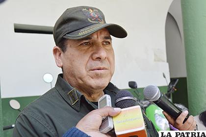 El director de la Felcc, coronel Manuel Vergara dio a conocer el hecho  /LA PATRIA