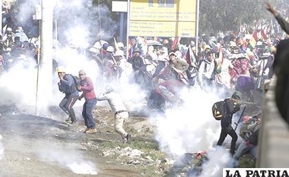 El enfrentamiento en Sacaba acabó con fallecidos /APG