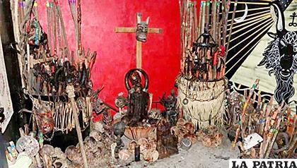 El altar encontrado en Tepito /Especial