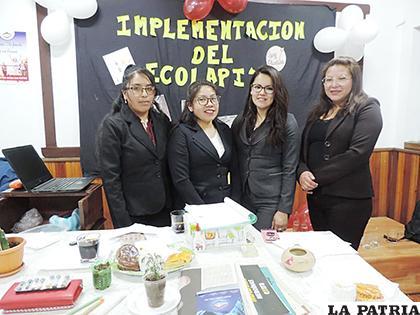 Las cuatro estudiantes pretenden socializar este proyecto entre  estudiantes