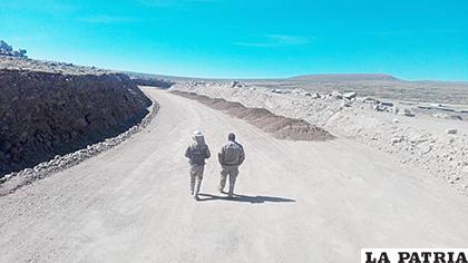 El tramo cuestionado en la denuncia, cruce Ventilla Mojon Pampa  /LA PATRIA