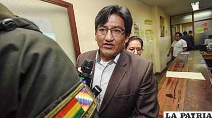 El dirigente Jesús Vera fue trasladado al penal de San Pedro de La Paz /ANF