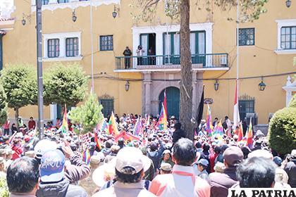 La segunda concentración en la plaza principal /El Potosí