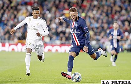 Real Madrid y PSG empataron 2-2 en el retorno de Neymar /as.com
