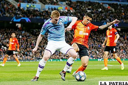 Manchester City y el Shakhtar terminaron empatando 1-1 /24-horas.mx