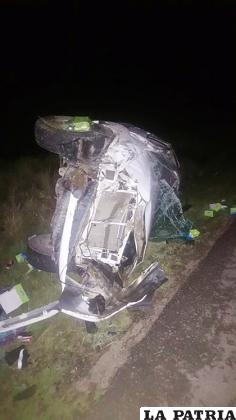 El vehículo presenta serios daños en su estructura /LA PATRIA