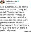 Rechazo del expresidente Morales y apoyo mayoritario a la nueva Presidente Jeanine Áñez