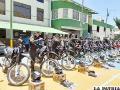 Son 20 motocicletas destinadas a la UTOP y la PAC /LA PATRIA