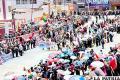 Maestros rurales marcharon pidiendo repliegue del Ejército y cuestionando trabajo de la prensa