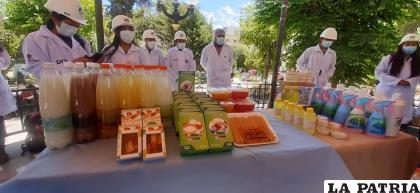 Todos estos productos fueron elaborados por universitarios de la UTO /LA PATRIA